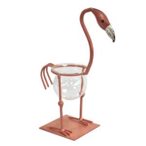 Hydroponic Home Decor Pink Metal Flamingo Des 2 Hydroponic Home Décor Pots