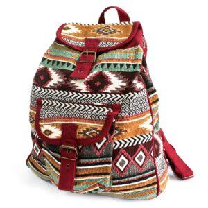 Jacquard Bag Chocolate Backpack Jacquard Nepal Style Bags