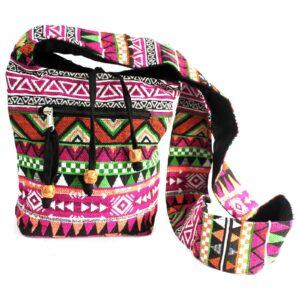 Jacquard Bag Pink Sling Bag Jacquard Nepal Style Bags