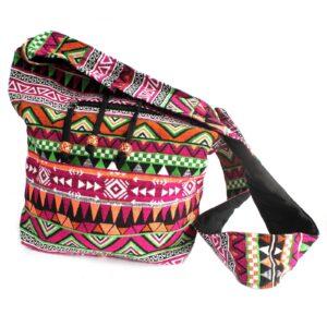 Jacquard Bag Pink Student Back Jacquard Nepal Style Bags