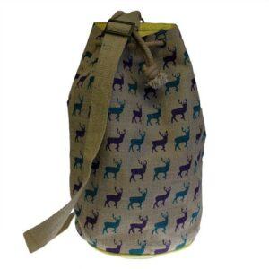 Jute Duffle Stag Bag Hipster Duffle Bags