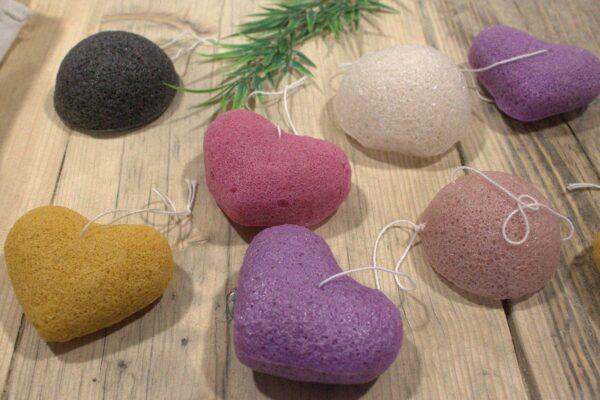 Konjac Heart Sponge Lavender Bathtime