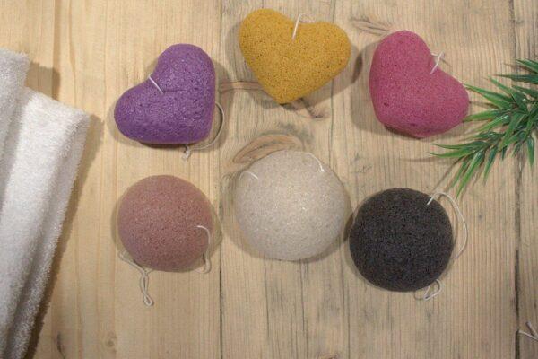 Konjac Heart Sponge Lavender Sponges