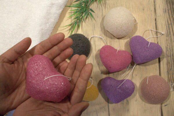 Konjac Heart Sponge Lavender
