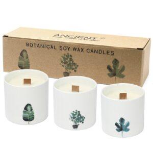 Large Botanical Candles Marsh Viola Botanical Candles