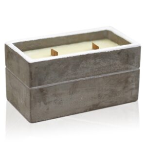 Large Box Spiced South Sea Lime Concrete Wooden Wick Candle