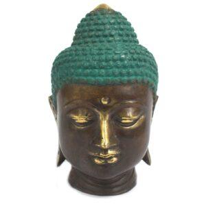 Large Classic Brass Buddha Head Brass Fengshui Objects