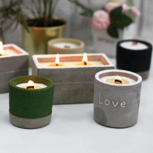 Concrtete Candles