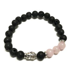 Lava Stone Bracelet Buddha Rose Quartz Lava Stone Bracelets