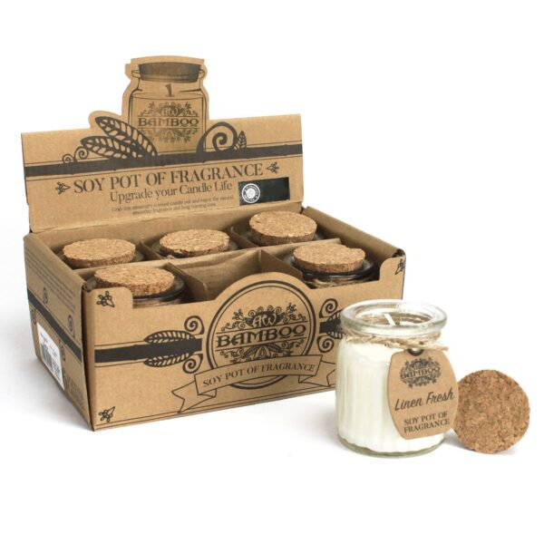 Linen Fresh Soy Pot of Fragrance Candles Home Décor
