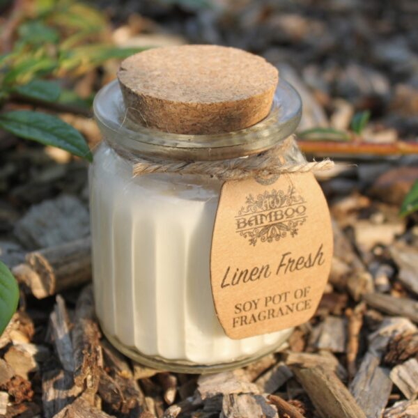 Linen Fresh Soy Pot of Fragrance Candles Candles