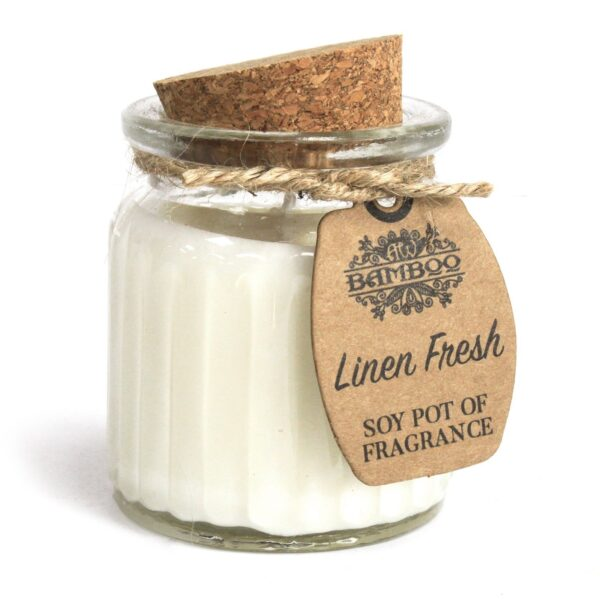 Linen Fresh Soy Pot of Fragrance Candles Soy Pot of Fragrance Candle