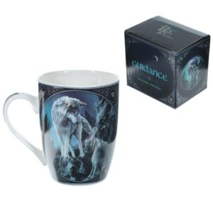 Lisa Parker Guidance Wolf Design New Bone China Mug Mugs as Gifts