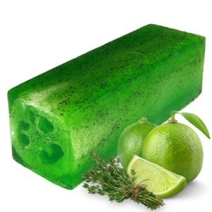 Loofah Soap Loaf Lime and Thyme Toughie Loofah Soap Loaves and Slices
