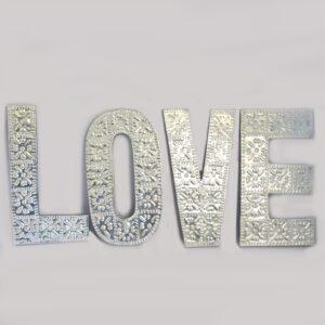 Lrg Arty Aluminium Letters LOVE Arty Aluminum Letters