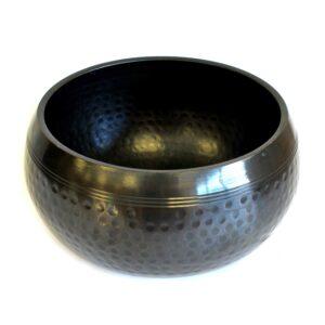 Lrg Black Beaten Bowl 18cm Tibetan Singing Bowls