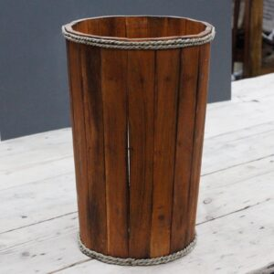 Lrg Nautical Display Tub Brown 45x32cm Retail Display Stands