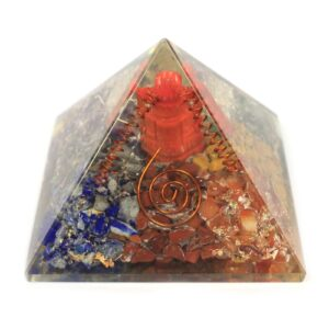 Lrg Orgonite Pyramid 70mm Ganesh Orgonite