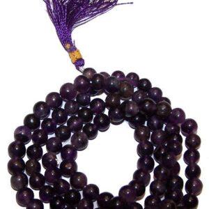 Mala Beads Amethyst Gemstone Mala Beads