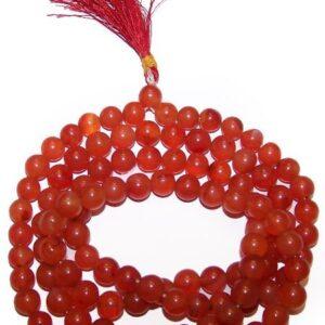 Mala Beads Carnelian Gemstone Mala Beads
