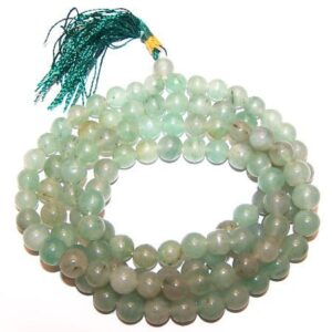 Mala Beads Green Aventurine Gemstone Mala Beads