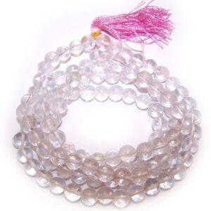Mala Beads Rock Crystal Gemstone Mala Beads