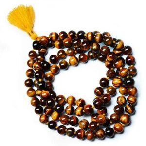 Mala Beads Tiger Eye Gemstone Mala Beads