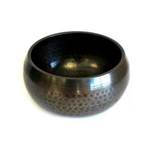 Med Black Beaten Bowl 15cm Tibetan Singing Bowls