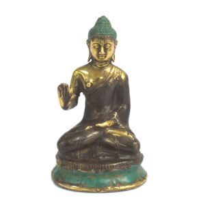 Med Hand Up Sitting Buddha Brass Fengshui Objects