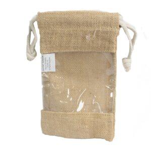 Med Jute Window Bag 20x12cm Jute Window Bags