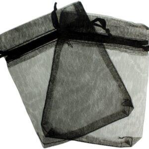 Med Organza Bags Black New Med Organza Bags - 10x13cm