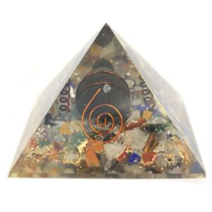 Med Orgonite Pyramid 60mm Gem chips Copper Turtle Orgonite