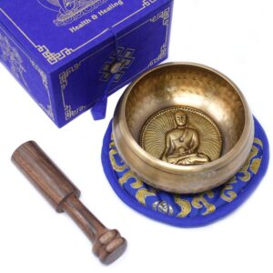 Medicine Buddha Singing Bowl Set 10cm  min 500gm Tibetan Sing Bowls Sets