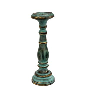 Medium Candle Stand Turquois Gold Vintage Candle Stands