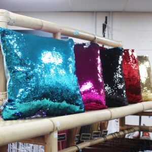 Mermaid Cushion Covers Midnight Black in an Aqua Sea Mermaid Cushion Covers