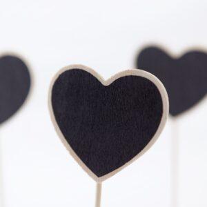 Mini Blackboard Heart on Stand Retail POD Blackboards