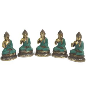 Mini Hand Up Sitting Buddha Brass Fengshui Objects