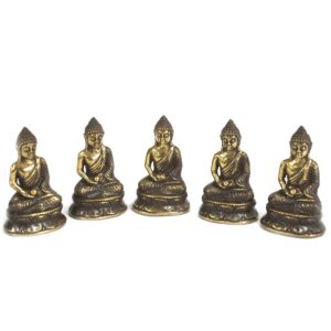 Mini Meditating Sitting Buddha Brass Fengshui Objects