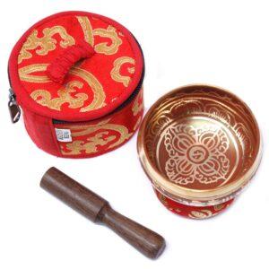Mini Singing Bowl Gift Set Red Tibetan Sing Bowls Sets