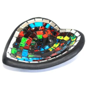 Moroccan Mosaic Heart Incense Holder Moroccan Style Mosaic