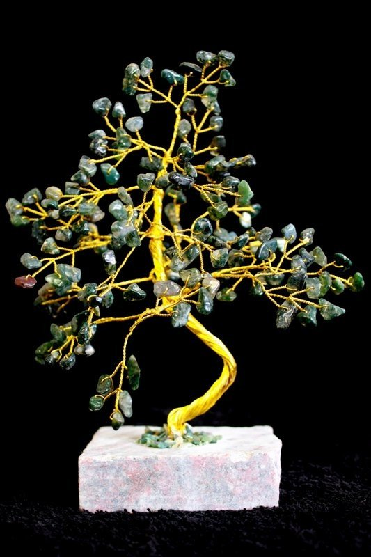 Moss Agate 160 Stone Indian Gemstone Trees