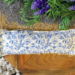 Natural Cotton Wheat Bags Blue Natural Cotton Wheat Bags - Rope Handle