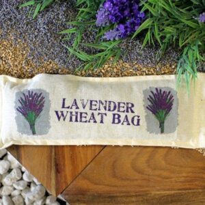 Natural Cotton Wheat Bags Lavender Natural Cotton Wheat Bags - Rope Handle