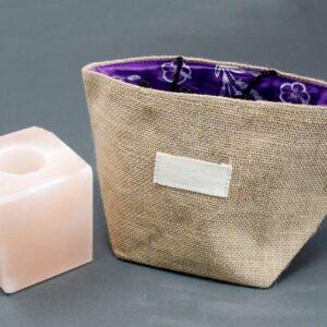Natural Jute Cotton Gift Bag Lavender Lining Large Natural Jute Cotton Gift Bags