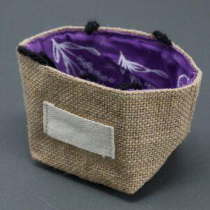 Natural Jute Cotton Gift Bag Lavender Lining Small Natural Jute Cotton Gift Bags