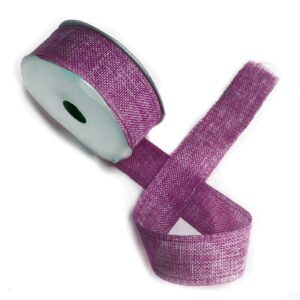 Natural Texture Ribbon 38mm x 20m French Lavender Natural Texture Ribbons 38mm x 20m