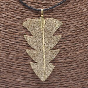 Necklace Gold Tree Leaf Jewellery