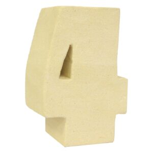 No.4 Sandstone Candle Holders Stone Birthday Numbers