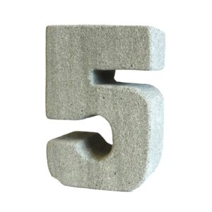 No.5 Granite Candle Holders Stone Birthday Numbers