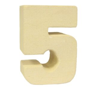 No.5 Sandstone Candle Holders Stone Birthday Numbers